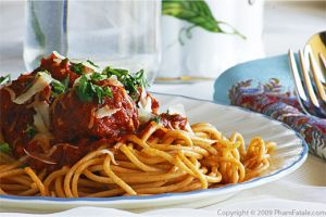 "Veggie ""Meat"" Balls with Spaghetti"