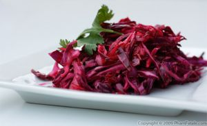 Red Cabbage Salad with Poppy Seed and Caramelized Onion Vinaigrette