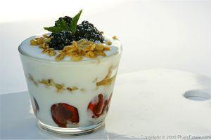 Cherry and Berry Yogurt Granola Parfait