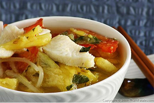 Canh Chua Ca (Vietnamese Sweet and Sour Fish and Pineapple Soup) Recipe
