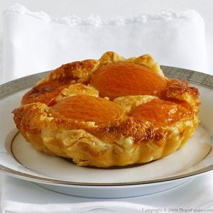 Apricot Tart with Almond Cream and Kaffir Lime Ginger Glaze