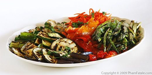 Tarragon-flavored Grilled Vegetable Party Platter Recipe