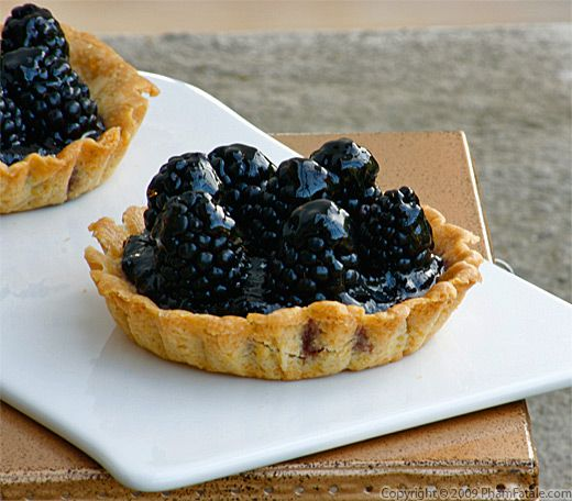 Blackberry Polenta Tart with a Kaffir Lime Ginger Glaze Recipe