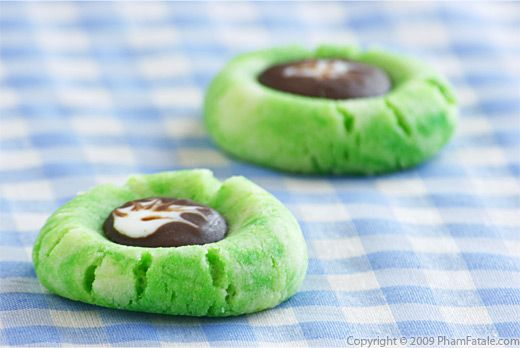 Thumbprint cookies with picture