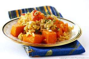 Cumin and Saffron Flavored Butternut Squash Risotto