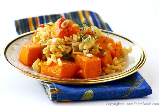 Cumin and Saffron Flavored Butternut Squash Risotto Recipe