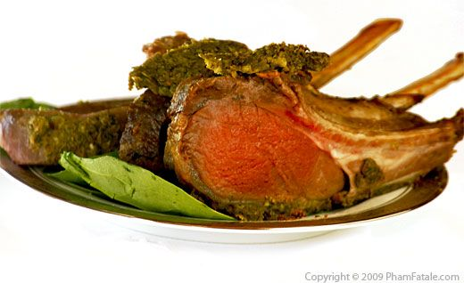Rack of Lamb with Lemon Persillade Crust