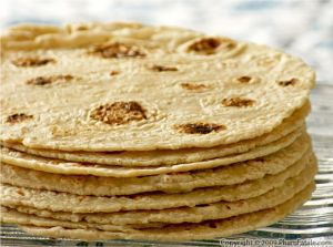 Home-Made Corn and Whole Wheat Flour Tortilla