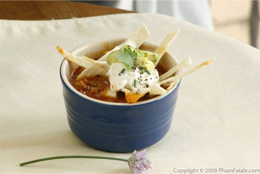 vegetarian tortilla soup with picture