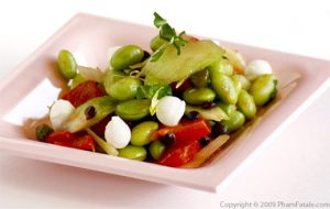 Edamame and Celery Salad with Roasted Peppers