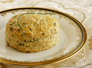 Homemade Biscuits with Sour Cream, Chives and Parmesan