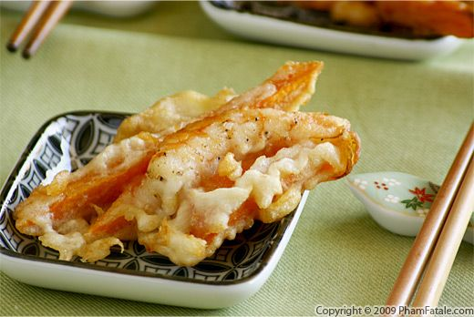 Vietnamese Sweet Potato and Shrimp Tempura Recipe