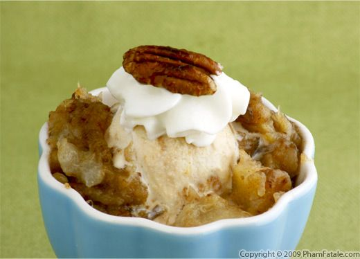 Dulce de Leche Ice Cream with Pecan and Date Compote