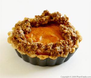 Sweet Potato Pie with Pecan Crumb Topping