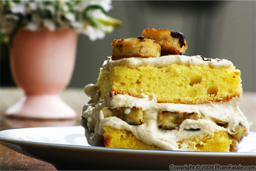 Banana Cream Cake with Marshmallow Frosting