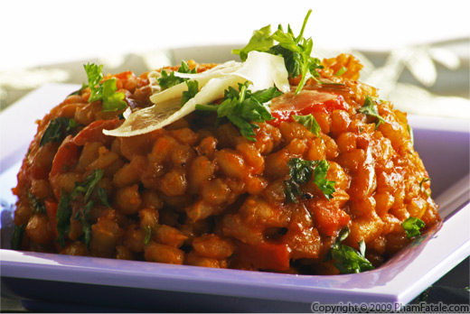Roasted Bell Pepper Pearled Barley Recipe