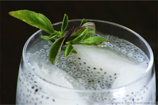Banana flavored Thai Basil Seed Drink