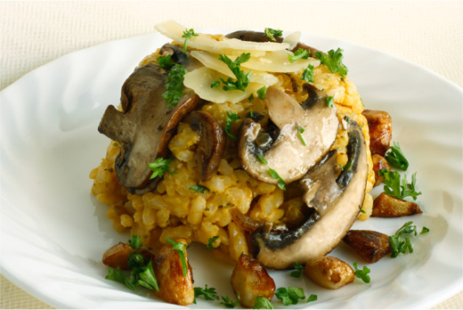 Garlic Cremini Mushroom Risotto