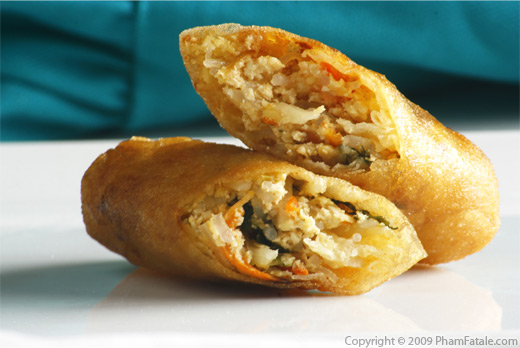 Mini Fried Vegetarian Eggrolls (Cha Gio Chay in Vietnamese)