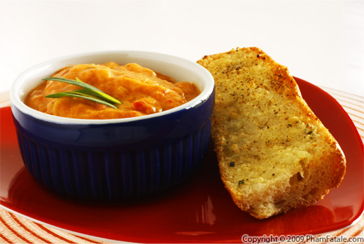 Tarragon Sweet Potato Roast Bell Pepper Soup