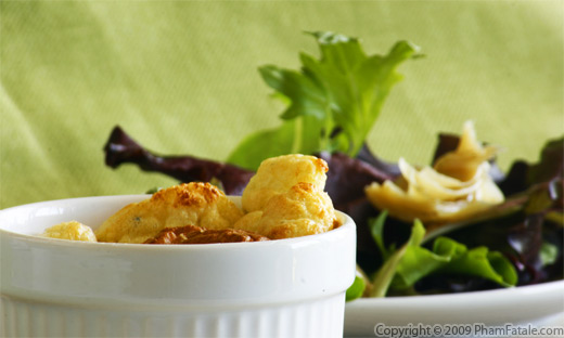 Gorgonzola Souffle with Salad