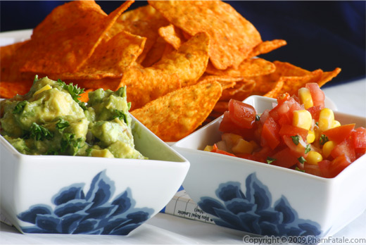 Super Bowl Guacamole and Salsa