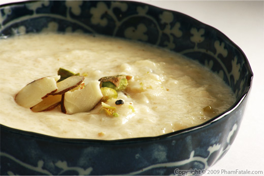 Mina's Pistachio Almond Cardamom Kheer (Indian Rice Pudding) Recipe