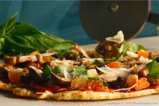 Mango Mushroom Pizza  Recipe