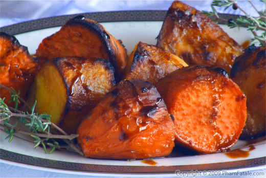 Molasses Roasted Yams and Sweet Potatoes Medley