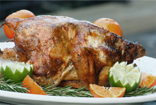 Mon Poulet Roti (Roast Chicken wih a citrus butter marinade) Recipe