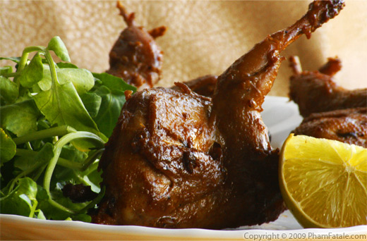 Asian-Style Soy Sauce Quail (Chim Cut Ro Ti)