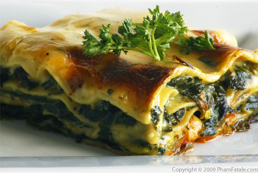 Vegetarian Spinach Lasagna