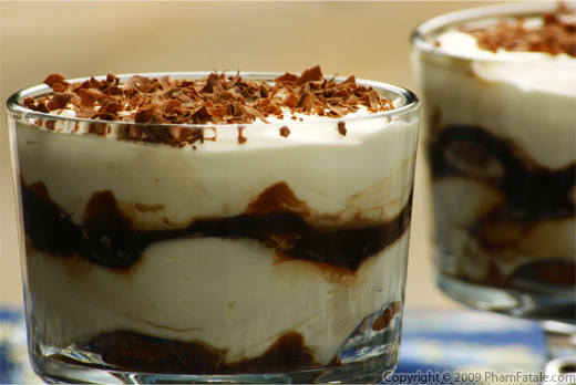 Coffee Tiramisu Parfait with Chocolate Raspberry Sauce Recipe