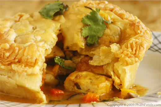 Vegetarian Indian Curry Tofu Pot Pie Recipe