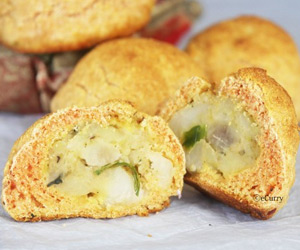Potato Stuffed Corn Bread Recipe