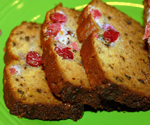 Gluten Free Cranberry Walnut Bread Recipe