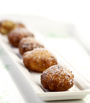 Potato Beignets with Chestnut Puree Filling