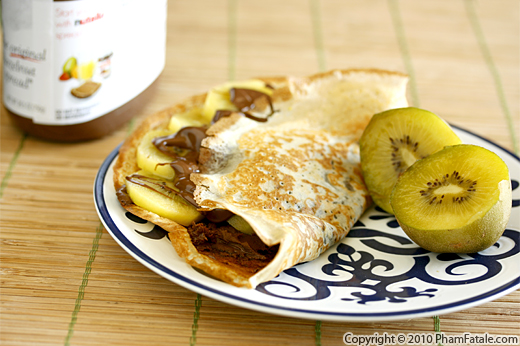 Nutella Crepes with Kiwi Recipe